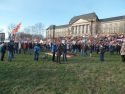 Reichskristallnacht, light, Pegida-Anti Pegida